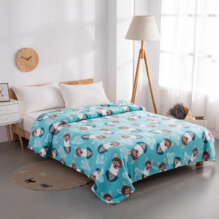 Mainstays Plush Queen Llama Bed Blanket