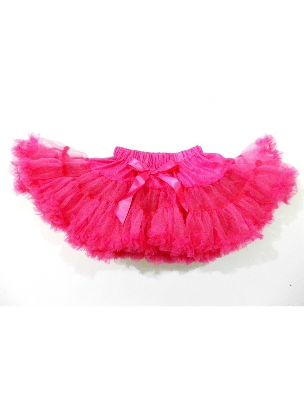 Hot Pink Chiffon Petti Tutu Skirt Girls L