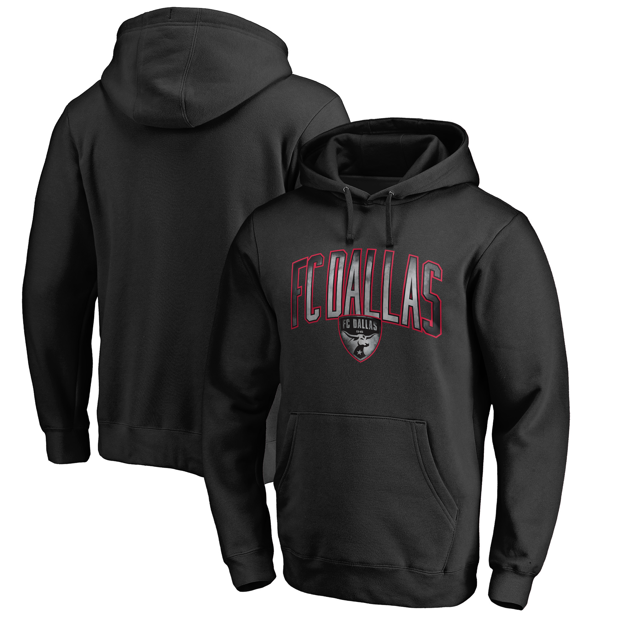 FC Dallas Fanatics Branded Arch Smoke Pullover Hoodie - Black