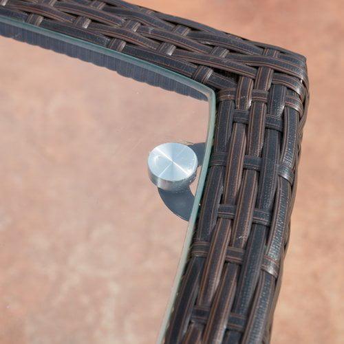 Ebern Designs Calhoun Outdoor Wicker 3 Piece Lounge Seating Group