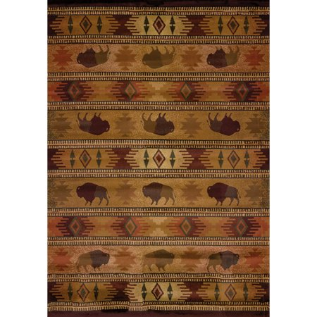 United Weavers Big Timber Buffalo Country Lodge Woven Polypropylene Area Rug or Runner