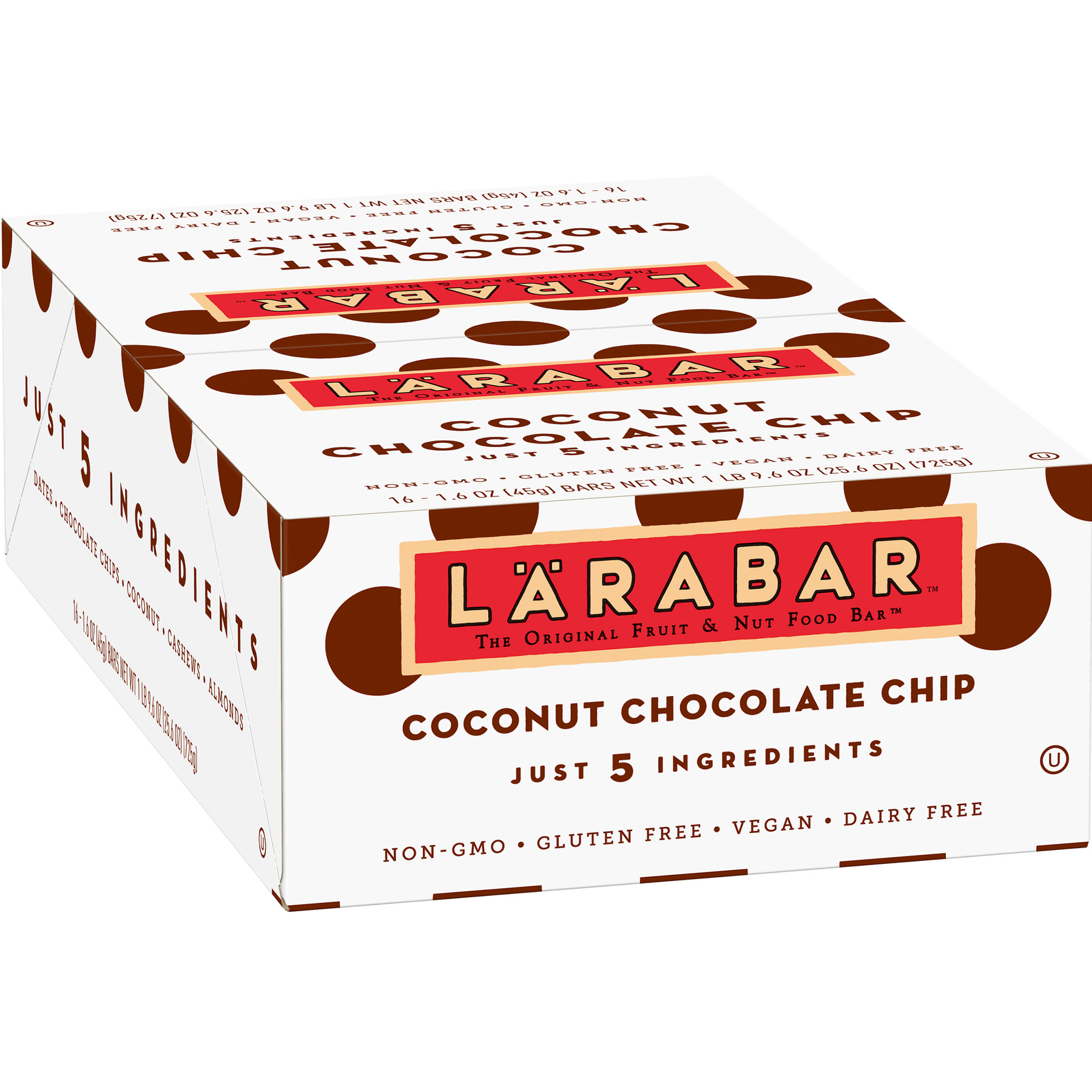 Larabar Gluten Free Bar Coconut Chocolate Chip 1.6 oz Bars (16 Count)