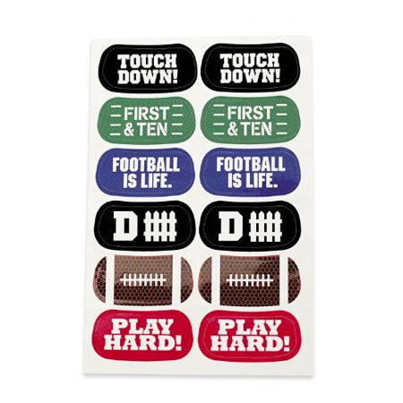 Football Face Temporary Tattoos 72 count](31 Dollar Halloween Tattoos)