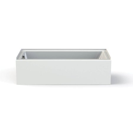MAAX 106348-L-000-001 Rubix Access Rectangular Acrylic Soaking Bathtub with Left Hand Drain, Integrated Tiling Flange and Skirt, White