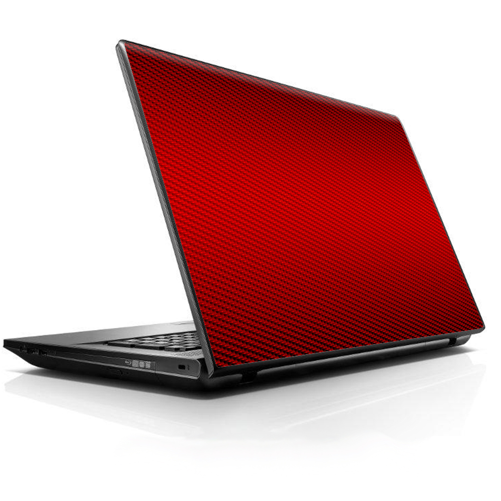 """Laptop Notebook Universal Skin Decal Fits 13.3"""" To 16"""" / Red Carbon Fiber Graphite"""
