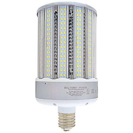 - Baltoro CLS6150-55k 150W LED Corn Bulb Replaces 700-1000 Watt MH, HID, HPS & CFL Area Lighting, 5500K Cool White (E39) Large Mogul Screw Base, 360° Flood Light, UL-Listed and LDL-Qualified 20250 lm