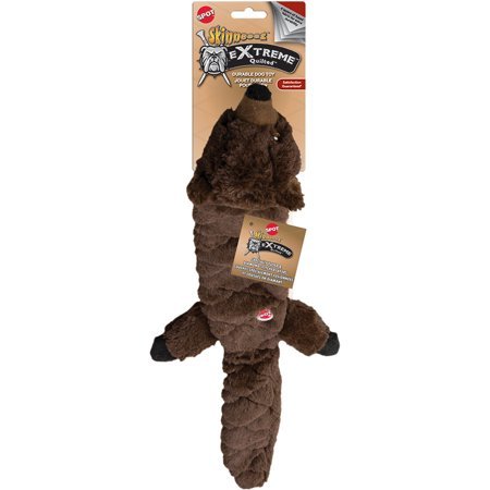SPOT Plush Skinneeez Extreme Quilted Beaver Dog Toy - Skinneeez Beaver