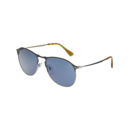 78a650e1ba4d Persol - Persol Men's PO7649S-107156-56 Silver Aviator Sunglasses -  Walmart.com