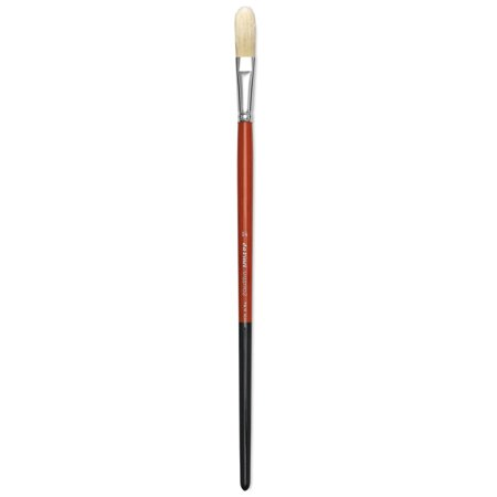 Long Filbert - Da Vinci Maestro 2 Hog Bristle Brush - Long Domed Filbert, Long Handle, Size 14