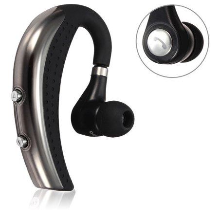 Bluetooth 4.0 Headset, Wireless Earpiece Bluetooth Headset for Phones, In-Ear Piece Hands-Free Headphones Office Phone Headsets w/ Mic Microphone, Noise Cancelling for Driving