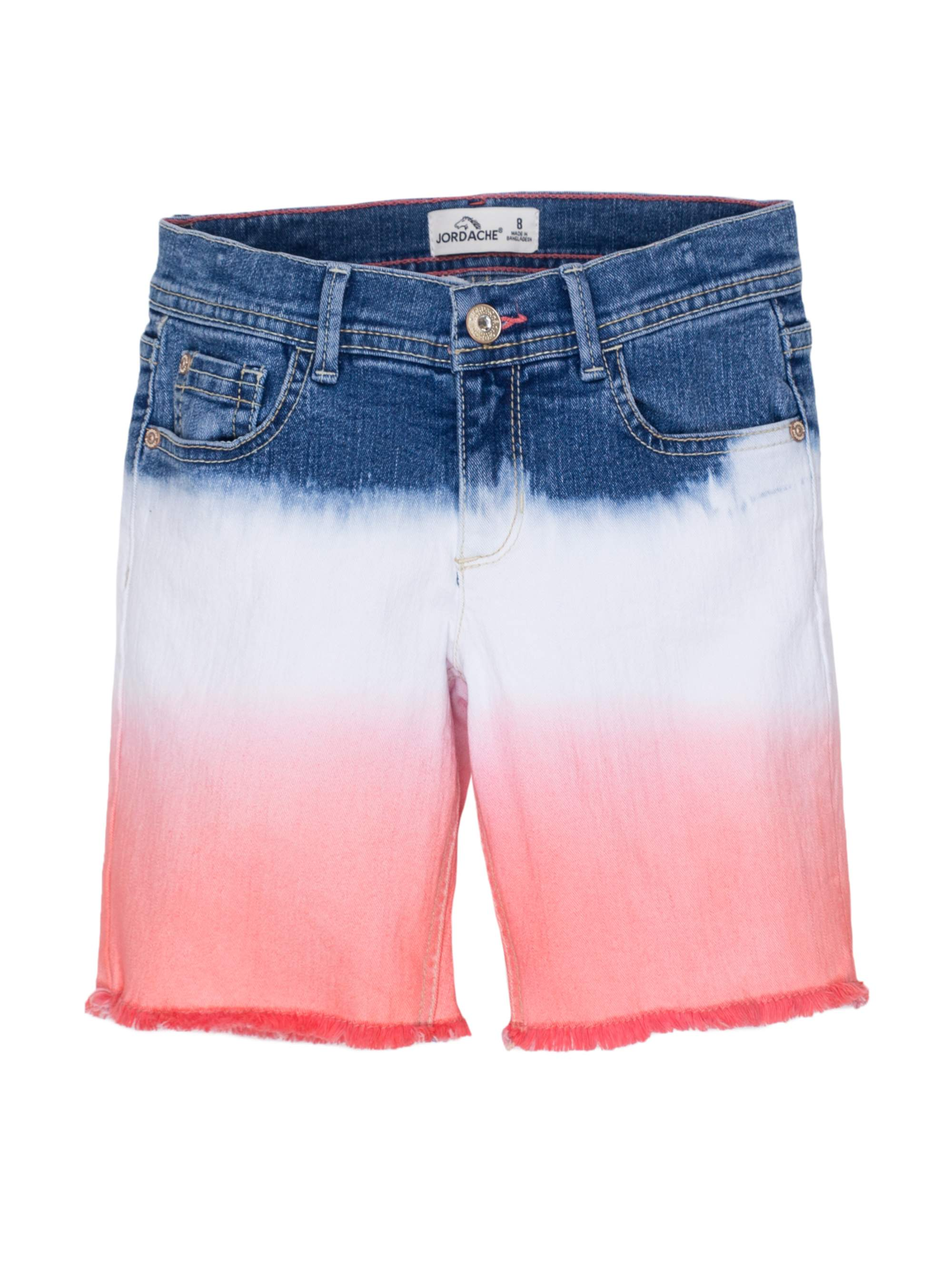 Ombre Denim Bermuda Short (Little Girls & Big Girls)