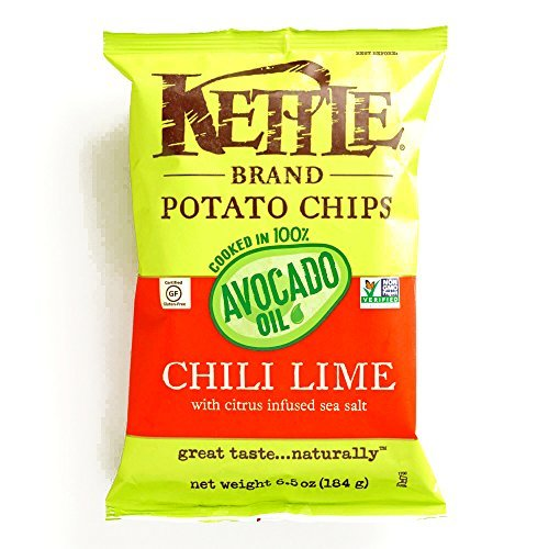 Kettle Brand Chili Lime and Avocado Oil Potato Chips 6.5 ...