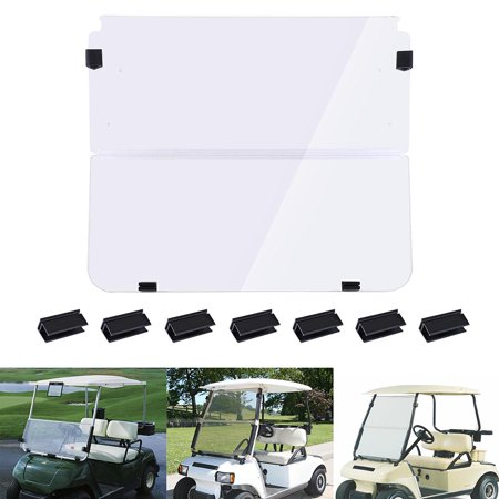 Yescom Folding Acrylic Golf Cart Windshield for Club Car DS 1982-2000 Clear Fold Down