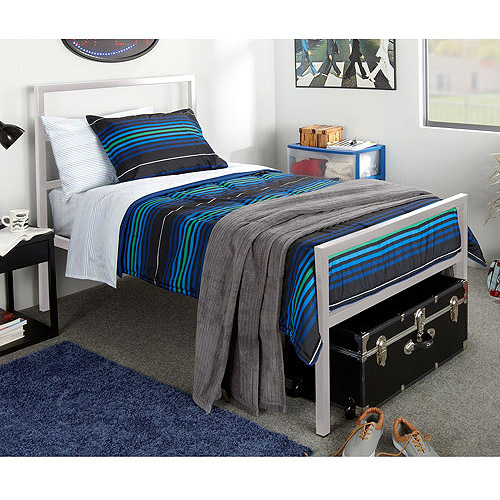 Mainstays Twin Parsons Bed, Gray