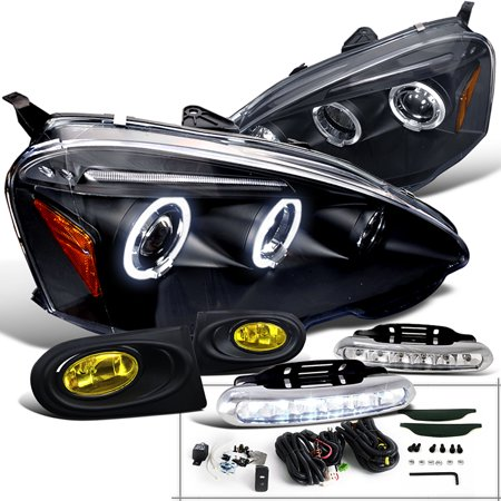 SpecD Tuning Acura Rsx Black Halo Led Projector - Acura rsx headlights