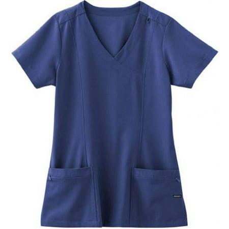 - Classic Fit Collection by Jockey Scrubs Women's Mock Wrap Scrub Top XXX-Large New Navy