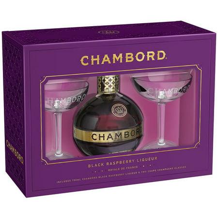 Chambord Champagne Glasses