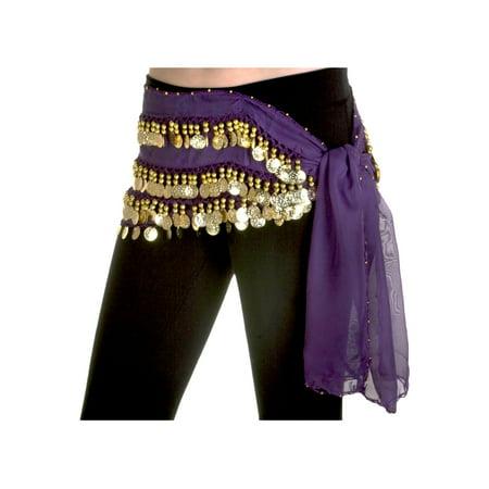 Purple Belly Dance Hip Scarf - Belly Dance Fashion