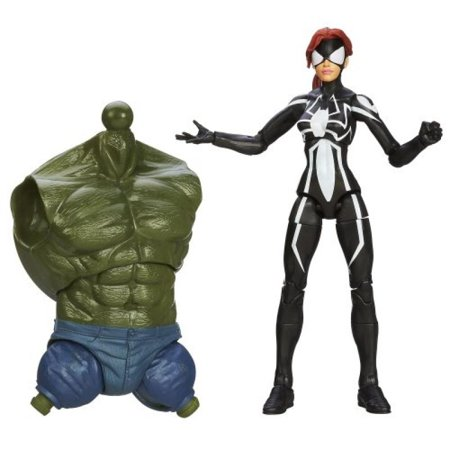 marvel the amazing spider-man 2 marvel legends infinite series skyline sirens action figure spider-girl, 6 inches