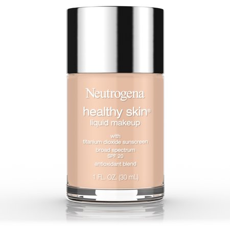 Neutrogena Healthy Skin Liquid Makeup Foundation, Broad Spectrum SPF 20 Sunscreen, Lightweight & Flawless Coverage Foundation with Antioxidant Vitamin E & Feverfew, 50 Soft Beige, 1 fl. oz
