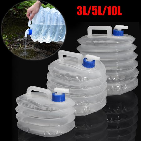 New 3L/5L/10L Collapsible Folding Water Container Bucket Storage PE Outdoor Hiking Camping Water Tank Foldable Water