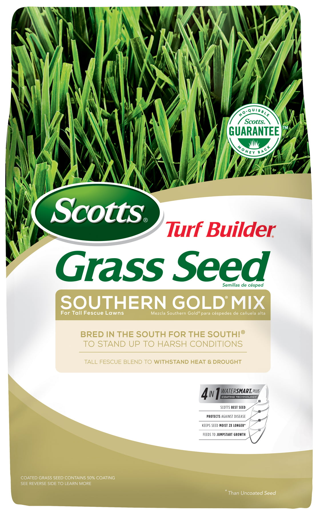 Scotts Turf Builder Southern Gold Grass Seed Mix For Tall Fescue Lawns, 40 lb