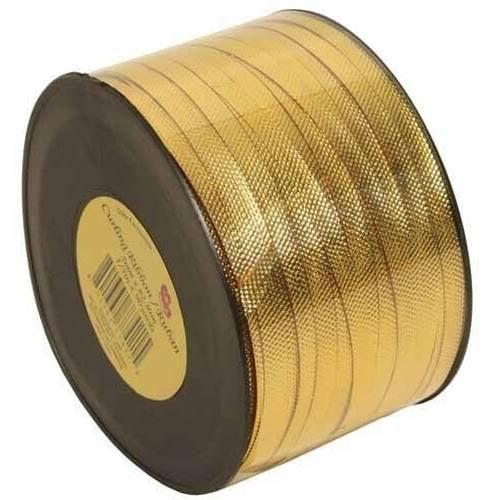 JAM Paper Curling Ribbon, 90 yds, Gold Metallic, 12pk