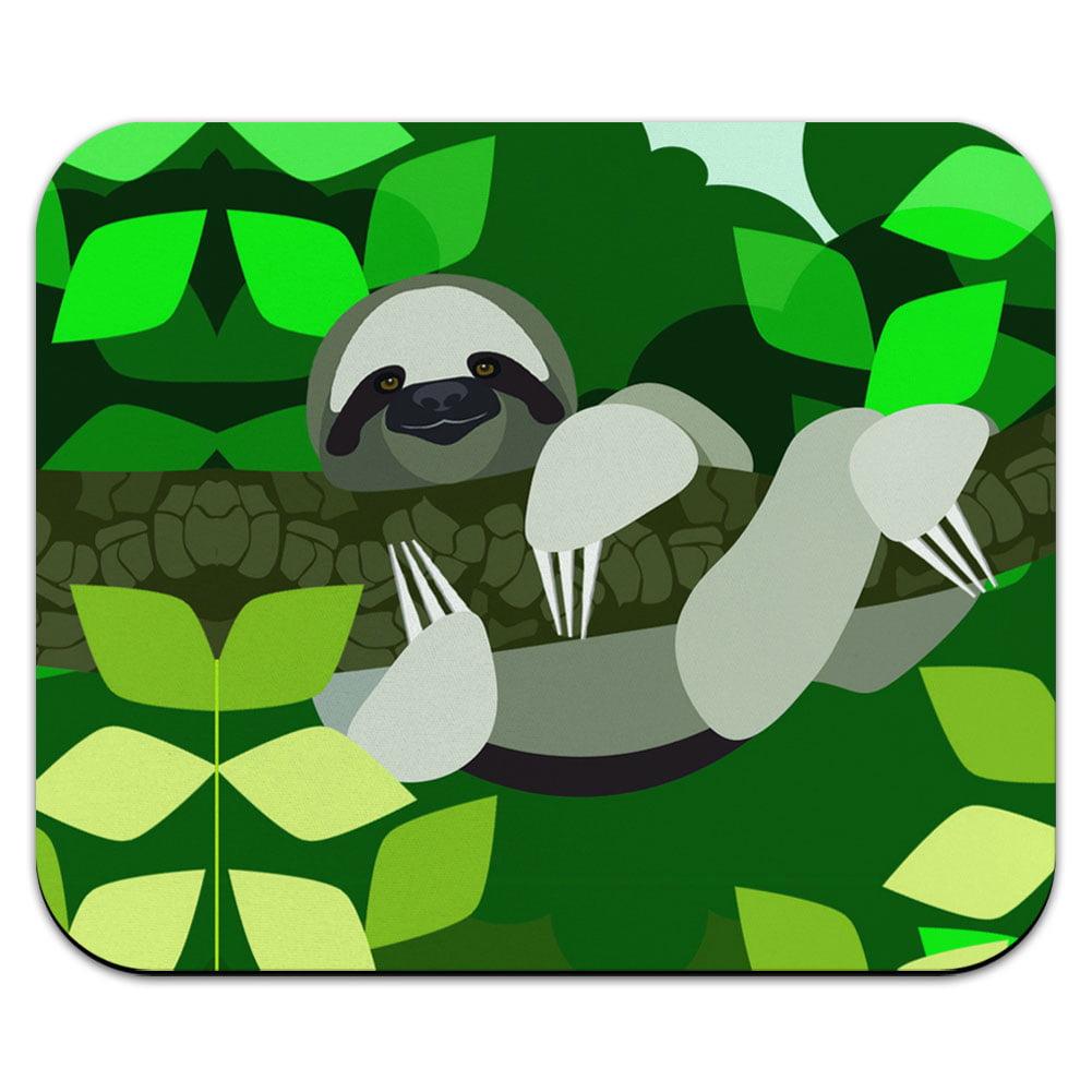 Geometric Sloth Mouse Pad