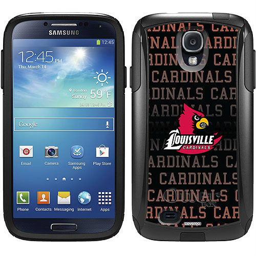 University of Louisville Cardinals Repeat Design on OtterBox Commuter Series Case for Samsung Galaxy S4
