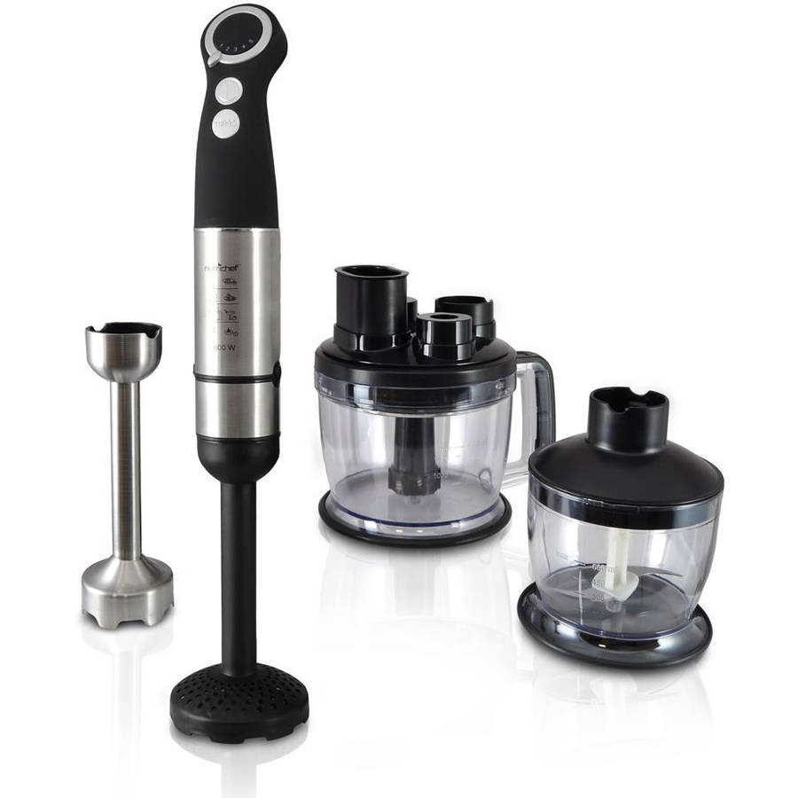 NutriChef PKHBK12 Food Processor and Immersion Hand Blender