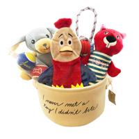 EV1 Dog Toys and Storage Bin, 7 Count