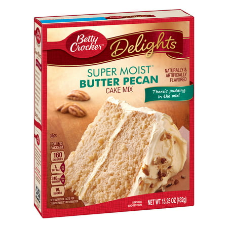 (2 pack) Betty Crocker Super Moist Butter Pecan Cake Mix, 15.25 (Best Butter Pecan Cake Recipe)