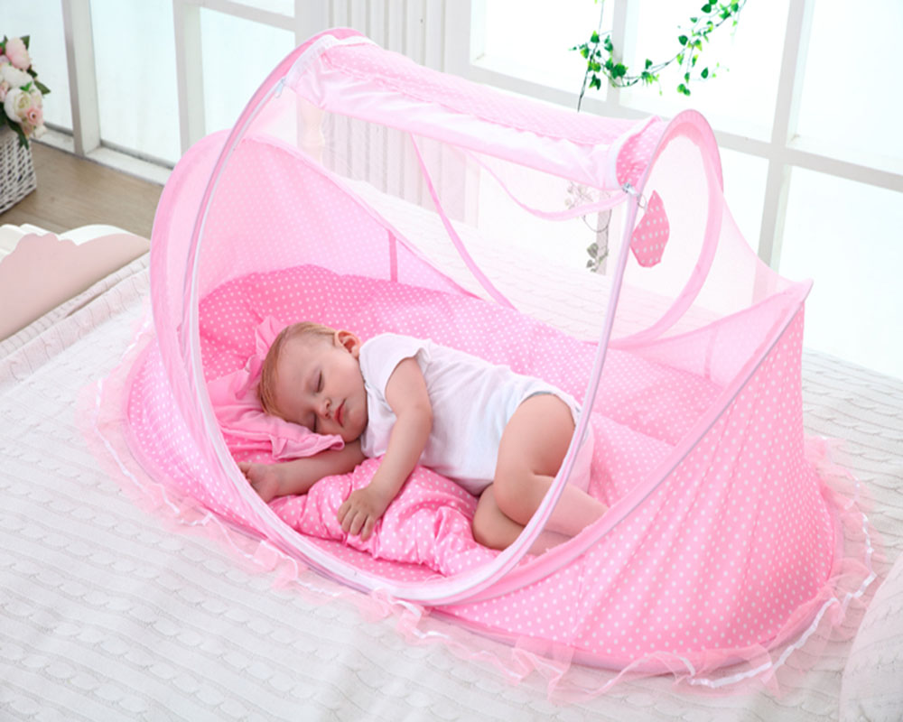 Baby Travel Bed Crib Mosquito Net Bed Portable Folding ...