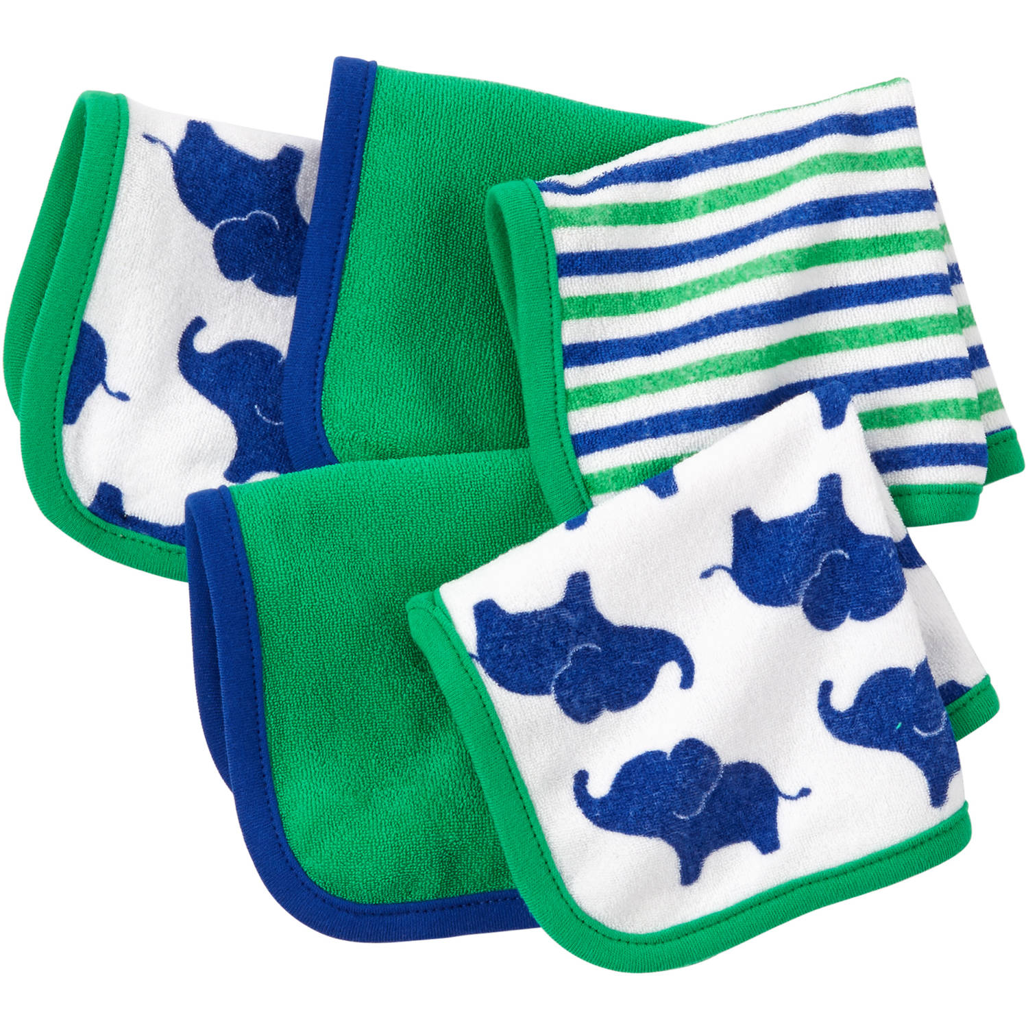 Child of Mine by Carter's Newborn Baby Boy Washcloths, 5 Pack