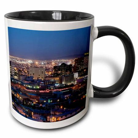 3dRose City Of El Paso, Texas - Two Tone Black Mug, 11-ounce