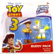 Disney Pixar Toy Story Buddy Pack Hero Woody & Buttercup Action Figures