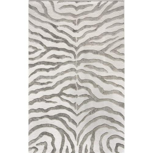 nuLOOM Hand Tufted Plush Zebra Area Rug or Runner