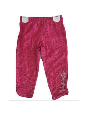 Little Girls Pink Sparkle Hannah Montana Embroidered Capri Pants 4-6X
