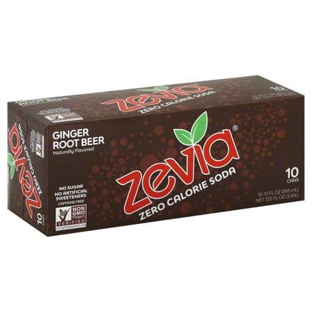 Zevia® Zero Calorie Ginger Root Beer Soda 10-12 fl. oz.
