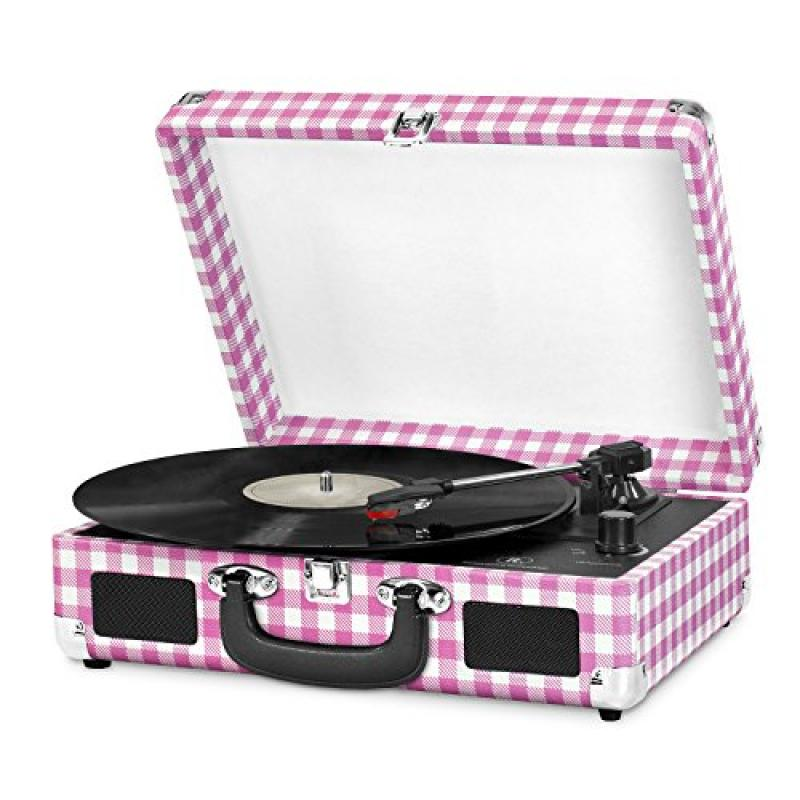 Innovative Technology Turntable,Pink Gingham (ITVS-550P2)