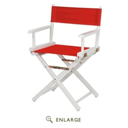 Astonishing Casual Home 200 01 021 11 18 In Directors Chair White Frame With Red Canvas Ncnpc Chair Design For Home Ncnpcorg