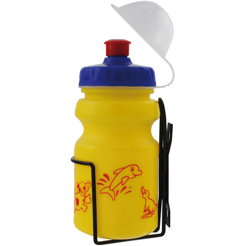 Ventura Children's Water Bottle with Cage, Yellow