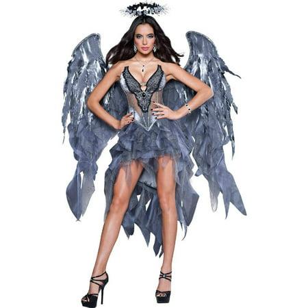 Dark Angel's Desire Dress Women's Adult Halloween Costume - Black Dress For Halloween Party