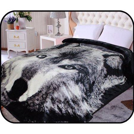 Jcp Hometex Inc  Hiyoko Safari Wolf Animal Mink Blanket