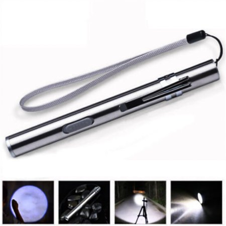 Portable Pocket LED Flashlight USB Rechargeable Mini Pen Shaped Light LED Torch