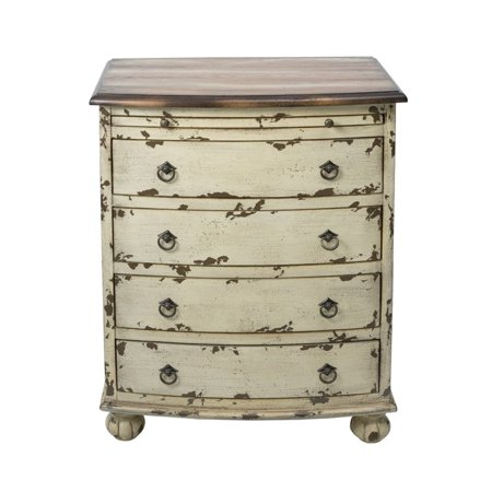 Beaumont Lane 4 Drawer Chest in Distressed White ()