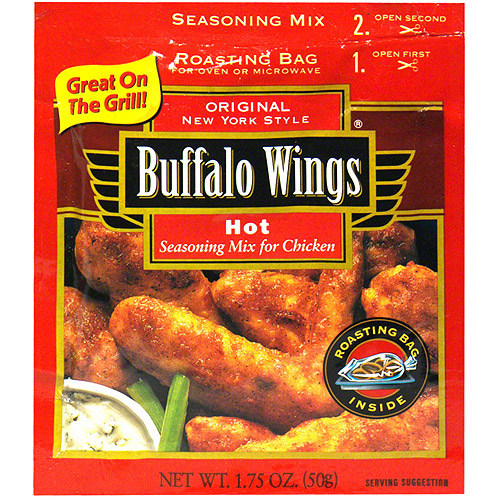 French's Hot Buffalo Wings Seasoning Blend, 1.75 oz (Pack of 12)