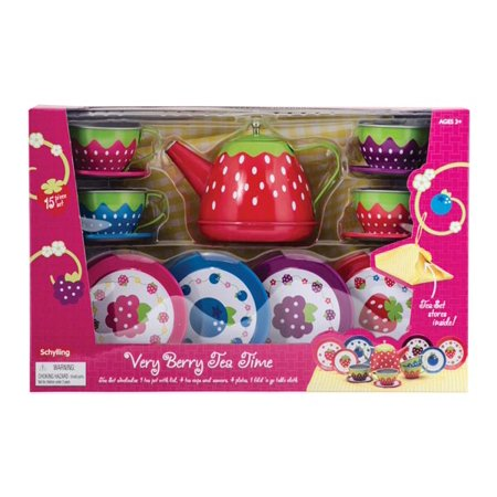 Berry Tea Set - Very Berry Tea Time Tin Tea Set