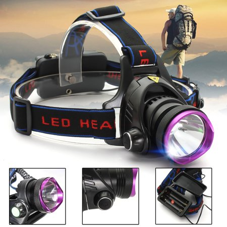 2000 Lumens LED 3 Modes Rechargeable Headlamp Flashlight Lantern T6 LED Headlight Torch for Camping Biking Hunting Fishing (Battery and Charger Not (Best Headlamp For Hunting)