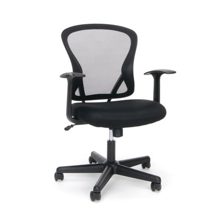 Essentials by OFM ESS-3011 Swivel Mesh Back Task Chair with Arms, Mid Back, (Arms Brick)